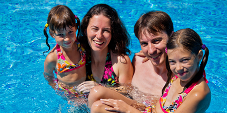 family swimming image
