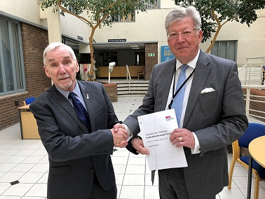 Leader of the Council Colin Riley and Chief Executive David Marchant