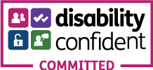 Disability Confident Committed logo
