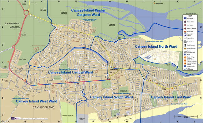 Ward Boundaries Canvey Island