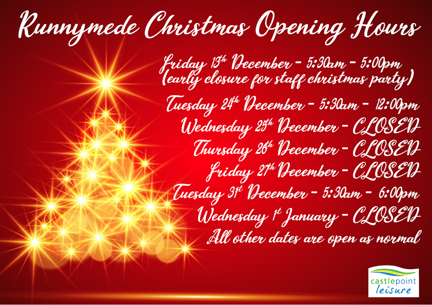 Runnymede Christmas Opening Hours