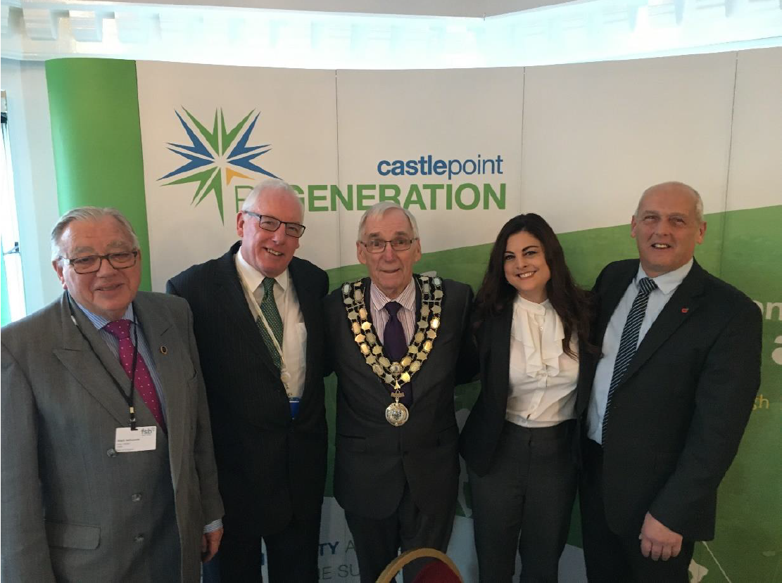 Alan Jefcoate Federation of Small Businesses, Regeneration and Business Portfolio Holder Councillor Chas Mumford, The Mayor of Castle Point Councillor Colin Riley, Toni Marshall ITEC Learning Technologies, Leader of the Council Councillor Norman Smith